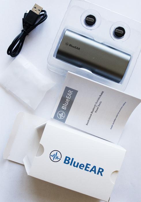 Bezdrátová bluetooth sluchátka s powerbankou, metalická šedá-7