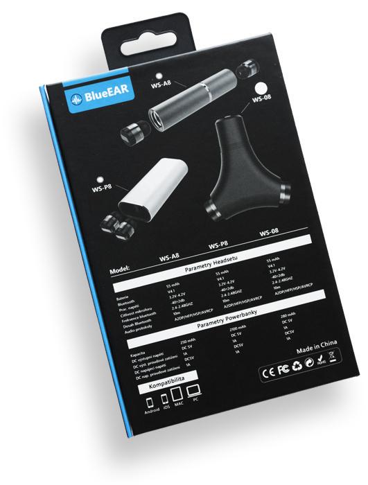 Bezdrátová bluetooth sluchátka s powerbankou, metalická šedá-8