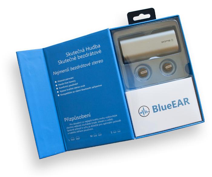 Bezdrátová bluetooth sluchátka s powerbankou, stříbrné-6