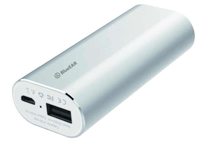 Bezdrátová bluetooth sluchátka s powerbankou, stříbrné-1
